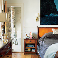 The bedrooms are intimate spaces, the beds dressed in luxurious silks and cashmere