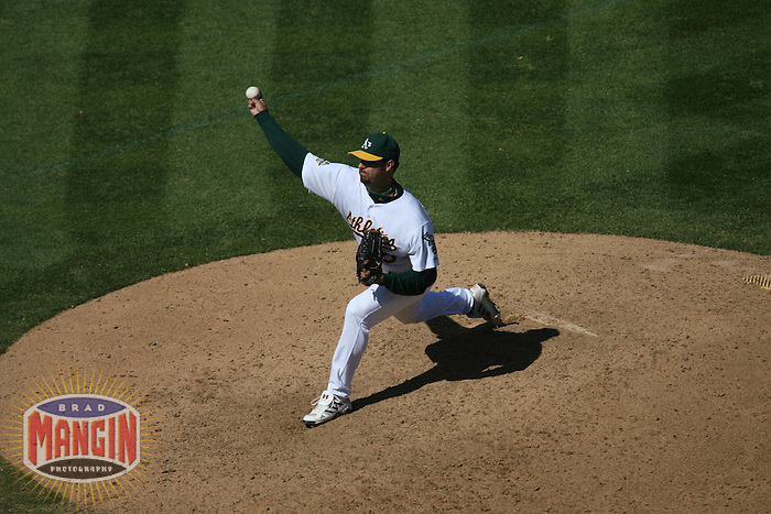 Esteban Loaiza. Baseball: Baltimore Orioles vs Oakland Athletics at McAfee Coliseum in Oakland, CA on September 3, 2006. Photo by Brad Mangin