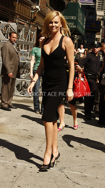 WWW.ACEPIXS.COM . . . . .  ....June 24 2008, New York City....Actress Charlize Theron appeared at the'Late Show with David Letterman' at the Ed Sullivan Theatre on June 24 2008 in New York City....Please byline: AJ Sokalner - ACEPIXS.COM..... *** ***..Ace Pictures, Inc:  ..te: (646) 769 0430..e-mail: info@acepixs.com..web: http://www.acepixs.com