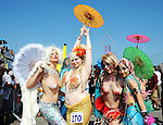 Mermaid Day Parade at Coney Island in Brooklyn, NY .