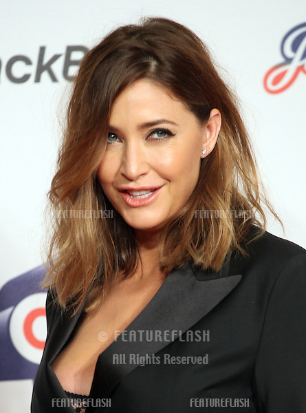 Lisa Snowdon arriving for the Capital Radio Jingle Bell Ball, O2 Arena, London. 09/12/2012 Picture by: Alexandra Glen / Featureflash