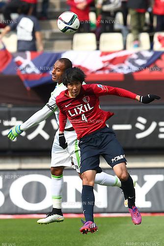 Kazuya Yamamura (Antlers),<br /> MARCH 14, 2015 - Football / Soccer : <br /> 2015 J1 League 1st stage match between<br /> Kashima Antlers 1-2 Shonan Bellmare<br /> at Kashima Soccer Stadium in Ibaraki, Japan.<br /> (Photo by Shingo Ito/AFLO SPORT)