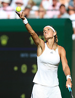 Arantxa Rus (NED) during her first round match against Serena Williams (USA)<br /> <br /> Photographer Rob Newell/CameraSport<br /> <br /> Wimbledon Lawn Tennis Championships - Day 1 - Monday 2nd July 2018 -  All England Lawn Tennis and Croquet Club - Wimbledon - London - England<br /> <br /> World Copyright v&Ccedil;&not;&uml;v&Ccedil;&not;&copy; 2017 CameraSport. All rights reserved. 43 Linden Ave. Countesthorpe. Leicester. England. LE8 5PG - Tel: +44 (0) 116 277 4147 - admin@camerasport.com - www.camerasport.com