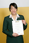 Girls Badminton winner Jessica Jonggowisastro. ASB College Sport Young Sportperson of the Year Awards 2007 held at Eden Park on November 15th, 2007.