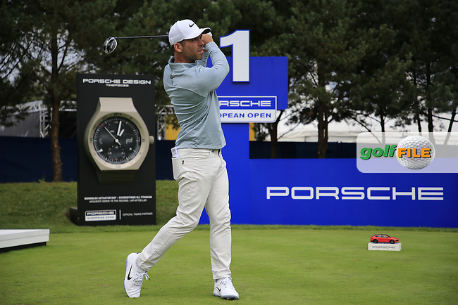 Paul Casey (ENG) during the Pro-Am at the  Porsche European Open, Green Eagles Golf Club, Luhdorf, Winsen, Germany. 04/09/2019.<br /> Picture Fran Caffrey / Golffile.ie<br /> <br /> All photo usage must carry mandatory copyright credit (© Golffile | Fran Caffrey)