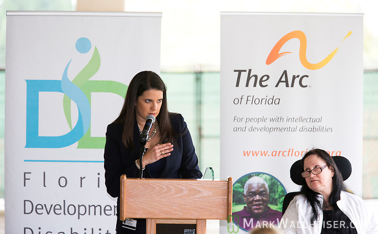Florida Senator Anitere Flores speaks during the Developmental Disabilities Awareness Day 2017 at the Florida Capitol sponsored by the Florida Developmental Disabilities Council, Inc and The Arc of Florida.