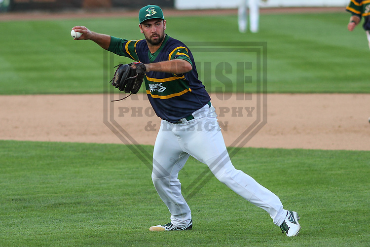 BELOIT - September 2014: Lou Trivino (37) of the Beloit Snappers during a game against the Wisconsin Timber Rattlers on September 1st, 2014 at Pohlman Field in Beloit, Wisconsin.  (Photo Credit: Brad Krause)