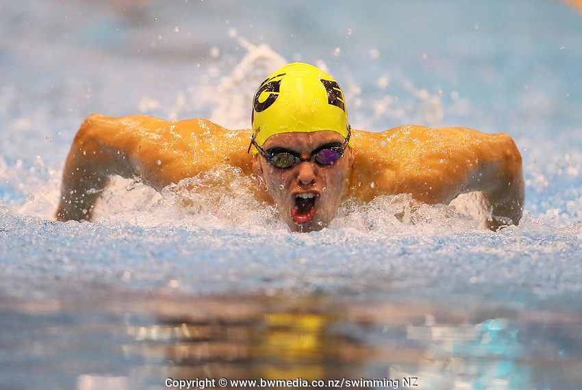 Lachlainn O'Connor. Swimming New Zealand Aon National Age Group Championships, Wellington Regional Aquatic Centre, Wellington, New Zealand, Tuesday 15 2019. Photo: Simon Watts/www.bwmedia.co.nz
