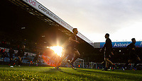 Players warm up as the sun sets inside Elland Road, home of Leeds United FC<br /> <br /> Photographer Alex Dodd/CameraSport<br /> <br /> The EFL Sky Bet Championship - Leeds United v Hull City - Saturday 29th December 2018 - Elland Road - Leeds<br /> <br /> World Copyright © 2018 CameraSport. All rights reserved. 43 Linden Ave. Countesthorpe. Leicester. England. LE8 5PG - Tel: +44 (0) 116 277 4147 - admin@camerasport.com - www.camerasport.com