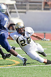 Torrance, CA 09/08/11 - Issac Kuo (Peninsula #28) in action during the North-Peninsula Junior Varsity Football game at North High School in Torrance.