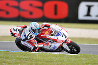 PHILLIP ISLAND, 27 FEBRUARY - Carlos Checa (ESP) riding the Ducati 1098R (7) of the Althea Racing Team during race one of round one of the 2011 FIM Superbike World Championship at Phillip Island, Australia. (Photo Sydney Low / syd-low.com)