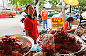 Street food vendor, Chatuchak Weekend Market Bangkok Thailand