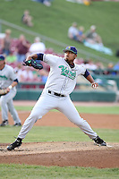 August 15 2008:  Starting Pitcher Trevor Reckling (30) of the Cedar Rapids Kernels, Class-A affiliate of the Los Angeles Angels of Anaheim, during a game at Philip B. Elfstrom Stadium in Geneva, IL.  Photo by:  Mike Janes/Four Seam Images