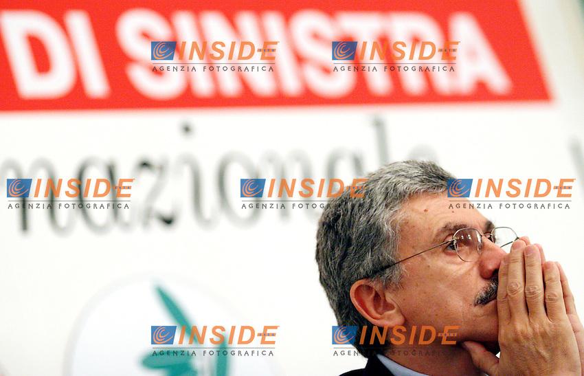 Roma 11/01/2006 Direzione Nazionale dei DS<br />Nella foto il presidente dei DS Massimo D'Alema<br />Photo Serena Cremaschi Insidefoto