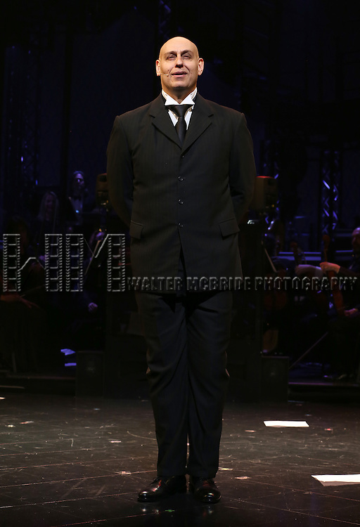 Fred Johanson during the Opening Night Curtain Call bows for Andrew Lloyd Webber's 'Sunset Boulevard' at the Palace Theatre on February 9, 2017 in New York City.
