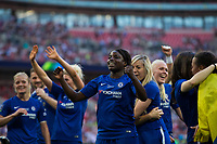 The Chelsea Ladies team celebrate victory <br /> <br /> Photographer Craig Mercer/CameraSport<br /> <br /> The SSE Women's FA Cup Final - Arsenal Women v Chelsea Ladies - Saturday 5th May 2018 - Wembley Stadium - London<br />  <br /> World Copyright &copy; 2018 CameraSport. All rights reserved. 43 Linden Ave. Countesthorpe. Leicester. England. LE8 5PG - Tel: +44 (0) 116 277 4147 - admin@camerasport.com - www.camerasport.com