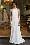 Model poses in a bridal gown from the Delphine Manivet Spring Summer 2017 Bridal collection at Ladurée SoHo at 76 Thompson Street, during New York Bridal Fashion Week Spring Summer 2017, on April 18, 2016.