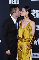 """LOS ANGELES - SEP 23:  Chris Hardwick, Lydia Hearst at the """"The Walking Dead"""" Season 10 Premiere Event at the TCL Chinese Theater on September 23, 2019 in Los Angeles, CA"""