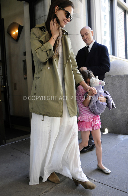 WWW.ACEPIXS.COM . . . . .  ....April 18 2012, New York City....Actress Katie Holmes takes her daughter Suri Cruise out on Suri's 6th Birthday on April 18 2012 in New York City....Please byline: CURTIS MEANS - ACE PICTURES.... *** ***..Ace Pictures, Inc:  ..Philip Vaughan (212) 243-8787 or (646) 769 0430..e-mail: info@acepixs.com..web: http://www.acepixs.com