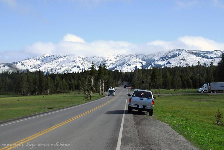 Yellowstone snowfall in July