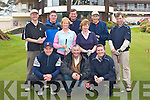 Competing in the Catherine Broderick memorial golf classic in Killarney Golf club on Friday was l-r front row: Bjorn Minnie, Donie Broderick, Stephen Broderick. Back row: Gene Cronin, Tom Moyinhan, Claire Bowler Lady Captain, Tony Lenihan, Breda Duggan, Teddy Bowler and Tim Geaney..    Copyright Kerry's Eye 2008