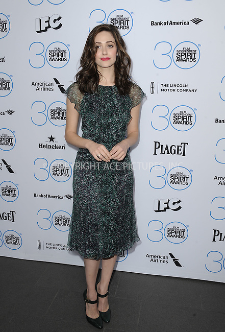 WWW.ACEPIXS.COM<br /> <br /> January 10 2015, LA<br /> <br /> Host Emmy Rossum attending the 2015 Film Independent Filmmaker Grant and Spirit Awards nominee brunch at the BOA Steakhouse on January 10, 2015 in West Hollywood, California.<br /> <br /> By Line: Peter West/ACE Pictures<br /> <br /> <br /> ACE Pictures, Inc.<br /> tel: 646 769 0430<br /> Email: info@acepixs.com<br /> www.acepixs.com