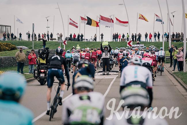 leaving the new start town of Terneuzen in The Netherlands<br /> <br /> 106th Scheldeprijs 2018 (1.HC)<br /> 1 Day Race: Terneuzen (NED) - Schoten (BEL)(200km)