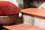 Incense 02 - Incense sticks in a basket, Hoi An, Vietnam