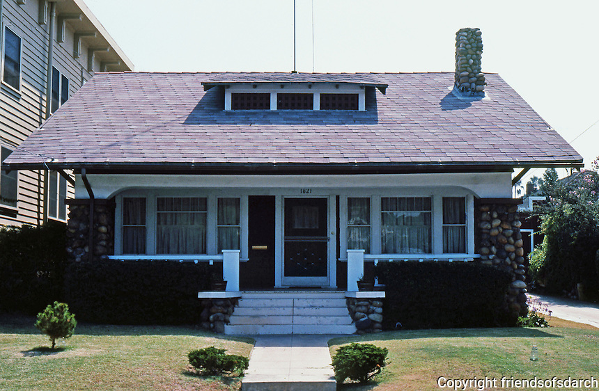San Diego: Classic California bungalow with stone pillars. 1621 29th St.  (Photo '82)