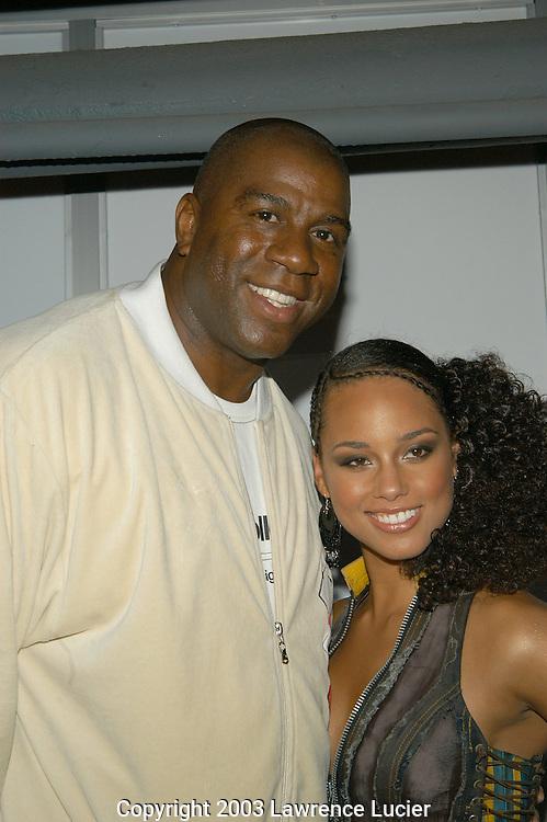 Magic Johnson and Alicia Keys