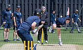 Cricket Scotland - Scotland train at Kent County cricket ground at Benkenham, ahead of two matches against Sri Lanka, on Sunday (tomorrow) and Tuesday - pic shows Chris Sole bowling - picture by Donald MacLeod - 20.05.2017 - 07702 319 738 - clanmacleod@btinternet.com - www.donald-macleod.com