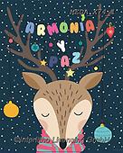 Dreams, CHRISTMAS ANIMALS, WEIHNACHTEN TIERE, NAVIDAD ANIMALES, paintings+++++,MEDAX74/1,#XA#