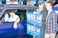 Supporters of Democratic presidential candidate and former Vice President Joe Biden take part in the Labor Day Parade in Milford, New Hampshire, on Mon., September 2, 2019. Candidates Bernie Sanders and Vermin Supreme were the only candidates who marched in the parade this year.