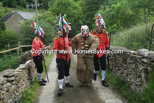 Hunting the Earl of Rone. Combe Martin Devon England.  2011. The  Grenadiers capture the Earl of Rone in Lady Wood.