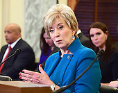 Linda E. McMahon testifies during the United States Senate Committee on Small Business &amp; Entrepreneurship hearing considering her nomination to be Administrator of the Small Business Administration (SBA) on Capitol Hill in Washington, DC on Tuesday, January 24, 2017.<br /> Credit: Ron Sachs / CNP