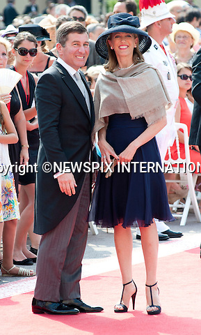 "MONACO ROYAL WEDDING .Incumbent Charles Rivkin and wife..Guests Arrive at the Religious wedding of H.S.H Prince Albert II and Miss Charlene Wittstock in the Prince's Palace._Prince's Palace Monaco 01/07/2011..Mandatory Photo Credit: ©Dias/Newspix International..**ALL FEES PAYABLE TO: ""NEWSPIX INTERNATIONAL""**..PHOTO CREDIT MANDATORY!!: NEWSPIX INTERNATIONAL(Failure to credit will incur a surcharge of 100% of reproduction fees)..IMMEDIATE CONFIRMATION OF USAGE REQUIRED:.Newspix International, 31 Chinnery Hill, Bishop's Stortford, ENGLAND CM23 3PS.Tel:+441279 324672  ; Fax: +441279656877.Mobile:  0777568 1153.e-mail: info@newspixinternational.co.uk"