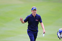 Luke Donald (ENG) walks onto the 9th green during Sunday's Final Round of the 2012 World Golf Championship Bridgestone Invitational at The Firestone Country Club, Akron, Ohio, USA 5th August 2012 (Photo Eoin Clarke/www.golffile.ie)