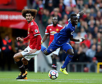 Marouane Fellaini of Manchester United tackles Idrissa Gueye of Everton during the premier league match at the Old Trafford Stadium, Manchester. Picture date 17th September 2017. Picture credit should read: Simon Bellis/Sportimage