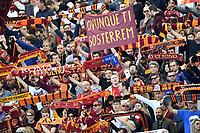 AS Roma supporters cheer on <br /> Roma 31-3-2019 Stadio Olimpico Football Serie A 2018/2019 AS Roma - Napoli <br /> Foto Andrea Staccioli / Insidefoto
