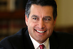 Governor-elect Brian Sandoval talks with reporters on Thursday, Dec. 30, 2010 at the Capitol in Carson City, Nev. .Photo by Cathleen Allison