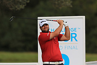 Jack Senior (ENG) on the 9th tee during Round 1 of the Challenge Tour Grand Final 2019 at Club de Golf Alcanada, Port d'Alcúdia, Mallorca, Spain on Thursday 7th November 2019.<br /> Picture:  Thos Caffrey / Golffile<br /> <br /> All photo usage must carry mandatory copyright credit (© Golffile | Thos Caffrey)