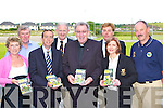 Launching Fr Tom Looney's book 'King in a Kingdom of Kings' an biography of legendary Kerry manager Dick Fitzgerald in Dr Crokes clubhouse on Friday evening was l-r: Jo O'Donoghue Currach Press, Donie O'Sullivan, Pat O'Shea, Mike Buckley, Fr Tom Looney, Vince Casey, Breda Cronin and Der Brosnan   Copyright Kerry's Eye 2008
