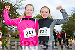 Enjoying the Fancy Dress fun Run in the park on Saturday were Jasmine O'Sullivan Foley and Ellen Collins