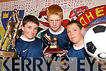CHAMPIONS: Pupils from Scoil Mhuire National School in Caherciveen who won the Kerry Primary Schools GAA Skillls Finals in Killarney on Friday last..L/r. Conor O'Shea, Liam Stapleton and Aidan O'Connor