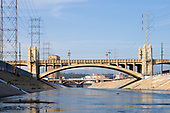 From 2008. 4th Street and 1st St Bridge, Stop on Folar's tour of the LA River, Los Angeles, California, USA