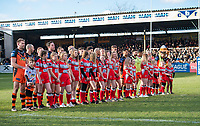 Picture by Allan McKenzie/SWpix.com - 11/02/2018 - Rugby League - Betfred Super League - Castleford Tigers v Widnes Vikings - the Mend A Hose Jungle, Castleford, England - Castleford line up before kick off.