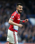 Middlesbrough's Alvaro Negredo in action during the Premier League match at Stamford Bridge Stadium, London. Picture date: May 8th, 2017. Pic credit should read: David Klein/Sportimage
