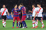 (L-R) Luis Suarez, Gerard Pique (Barcelona), <br /> DECEMBER 20, 2015 - Football / Soccer : <br /> FIFA Club World Cup Japan 2015 <br /> Final match between River Plate 0-3 Barcelona  <br /> at Yokohama International Stadium in Kanagawa, Japan.<br /> (Photo by Yohei Osada/AFLO SPORT)