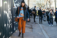 Leaf Greener at Paris Fashion Week (Photo by Hunter Abrams/Guest of a Guest)
