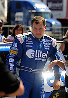 Oct 4, 2008; Talladega, AL, USA; NASCAR Sprint Cup Series driver Ryan Newman during qualifying for the Amp Energy 500 at the Talladega Superspeedway. Mandatory Credit: Mark J. Rebilas-